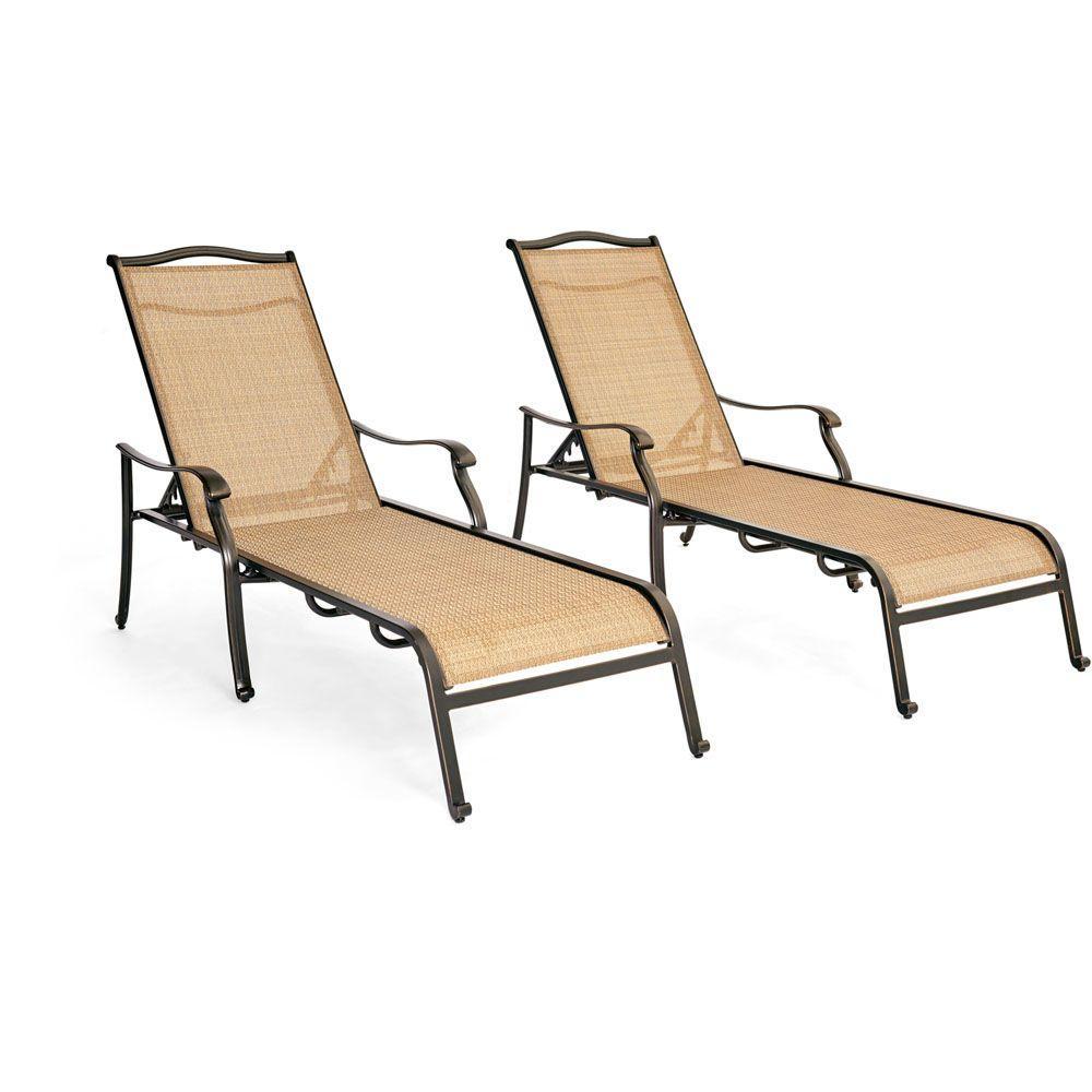 Monaco Patio Chaise Lounge Set