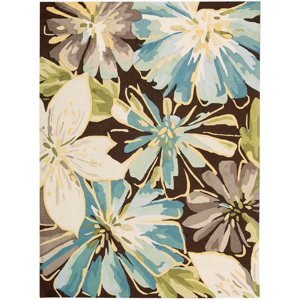 Nourison Fantasy Chocolate 5 Ft X 7 6 In Area Rug 055712 The Home Depot