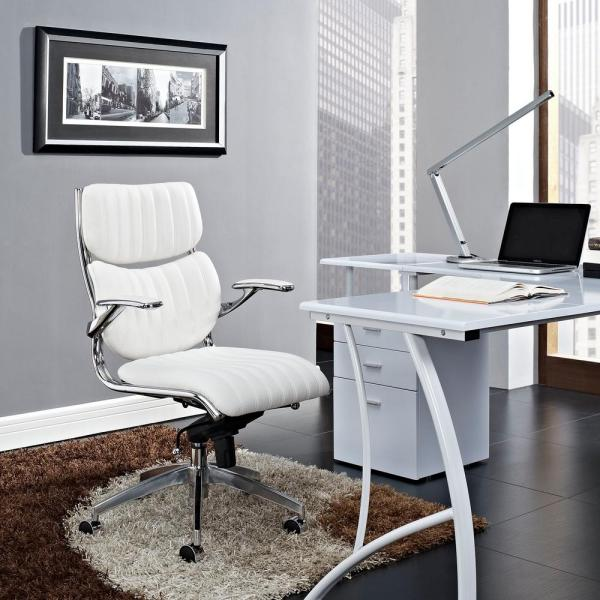 MODWAY Escape Mid Back Office Chair in White EEI-1028-WHI