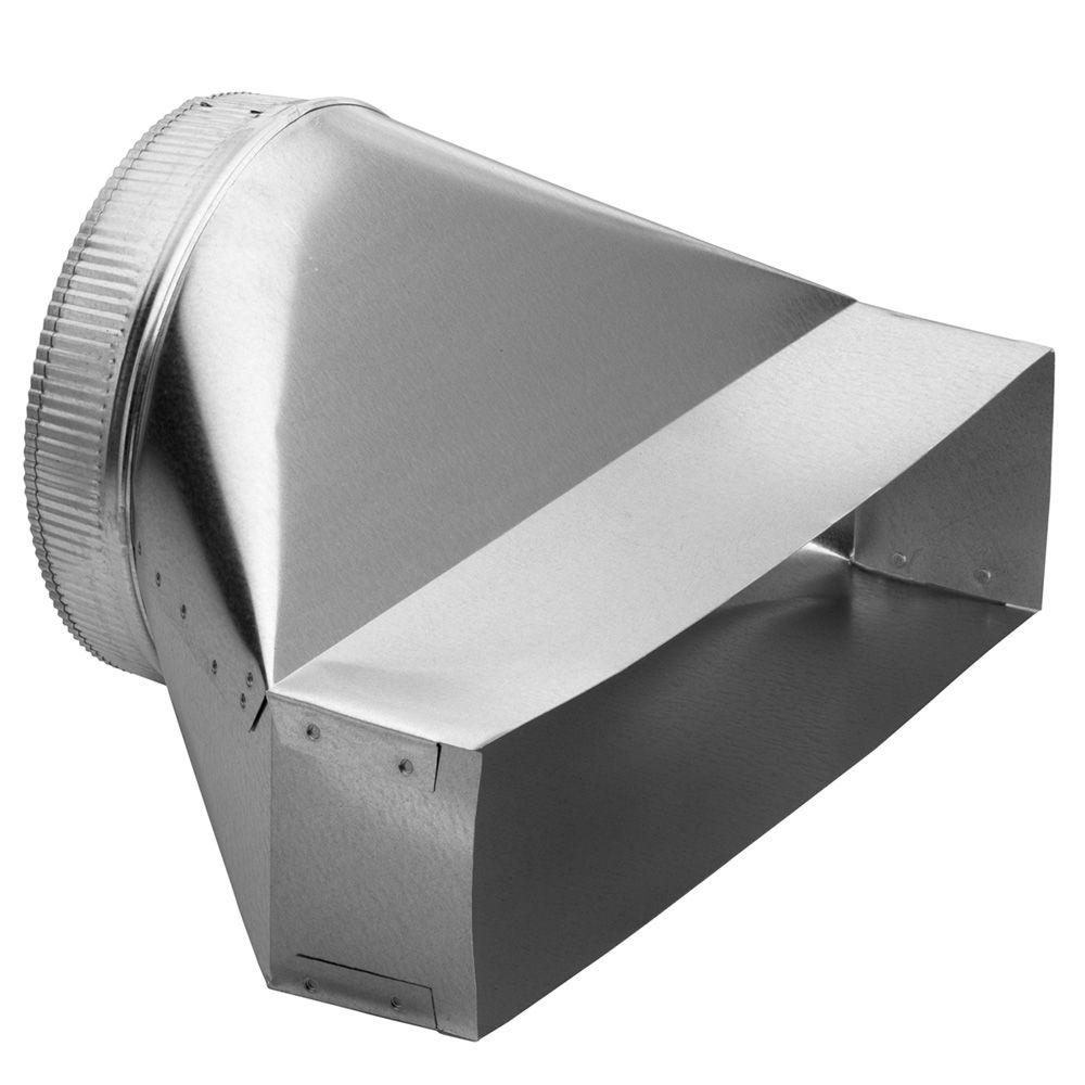 Broan Nutone 4 1 2 In X 18 1 2 In To 10 In Round Galvanized Steel Vertical Duct Transition 423 The Home Depot