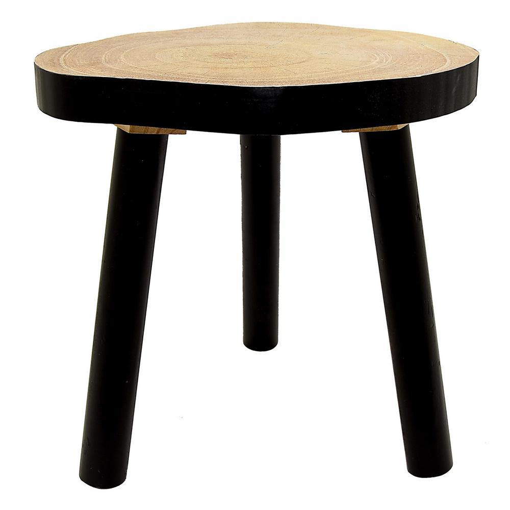 Black Wood Pedestal