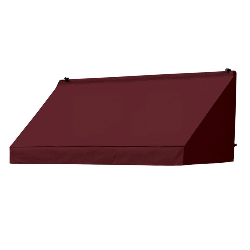 6 ft. Classic Manually Retractable Awning (26.5 in. Projection) in Burgundy