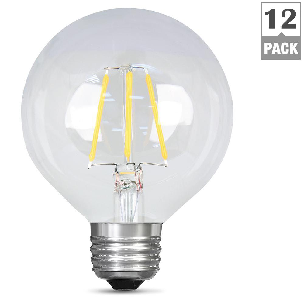 40W Equivalent Soft White (2700K) G25 Dimmable Filament LED Clear Glass