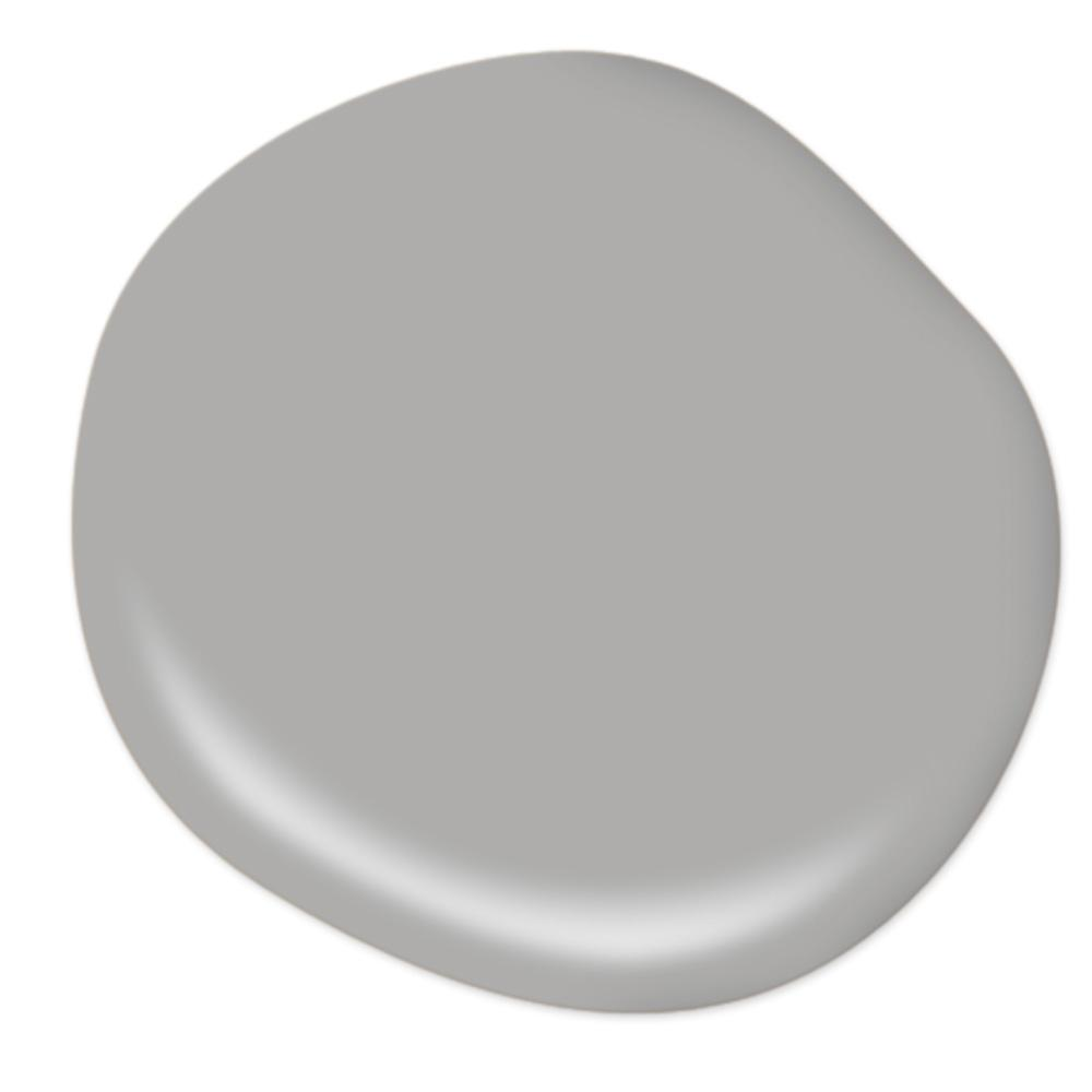 BEHR ULTRA 8 oz. #N520-3 Flannel Gray Matte Interior/Exterior Paint and Primer in One Sample