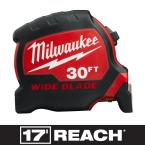 30 ft. x 1.3 in. Wide Blade Tape Measure with 17 ft. Reach