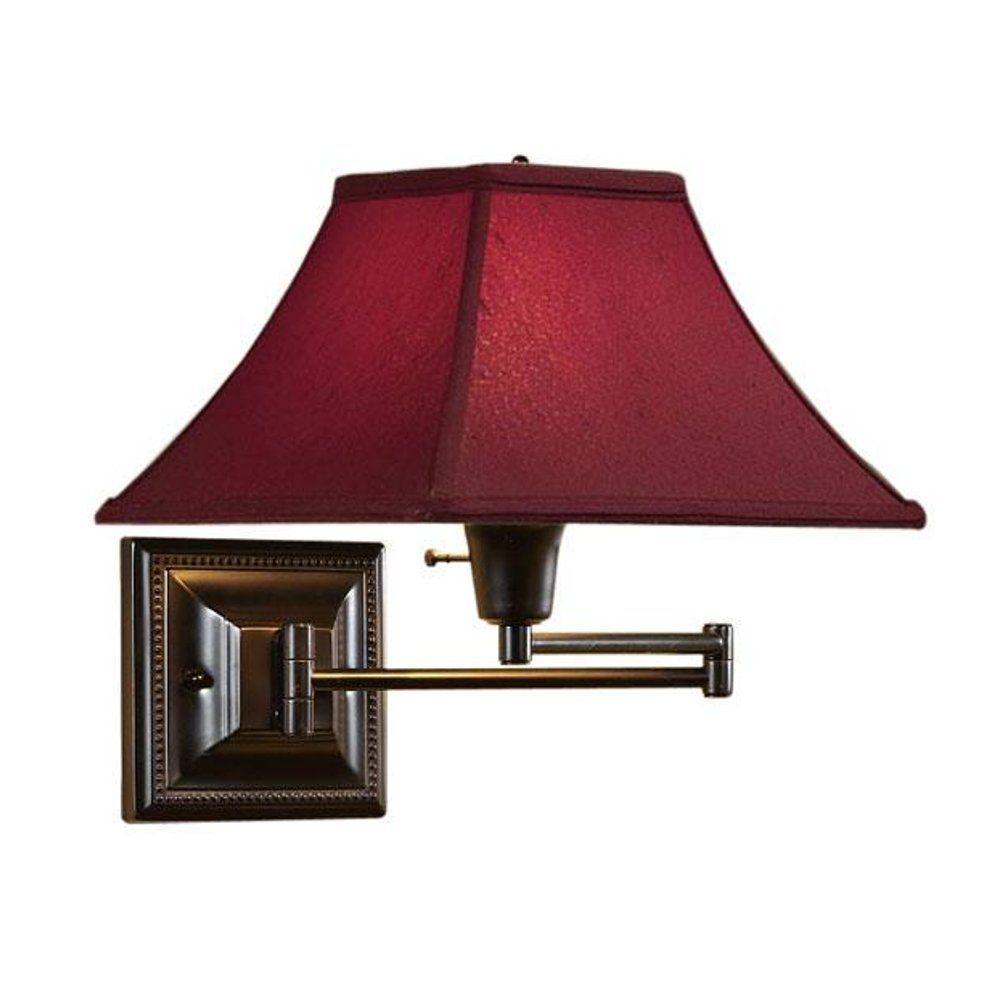 1-Light Bronze/Copper Kingston Swing-Arm Pin-Up Lamp