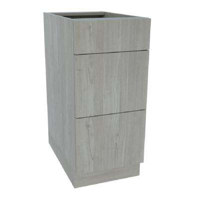 Ready to Assemble Standard 15 in. x 34-1/2 in. x 24 in. Drawer Base Cabinet in Grey Nordic Wood