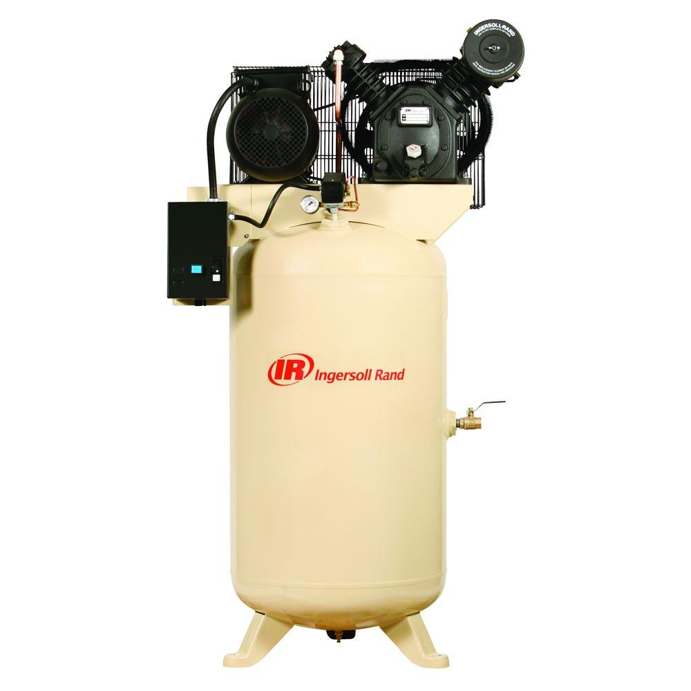 ingersoll rand stationary air compressors 2475n7 5 v 64_1000 ingersoll rand type 30 reciprocating 80 gal 7 5 hp electric 230