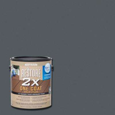 1 gal. 2X Carbon Solid Deck Stain with NeverWet