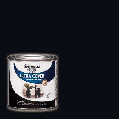 8 oz. Flat Black General Purpose Paint