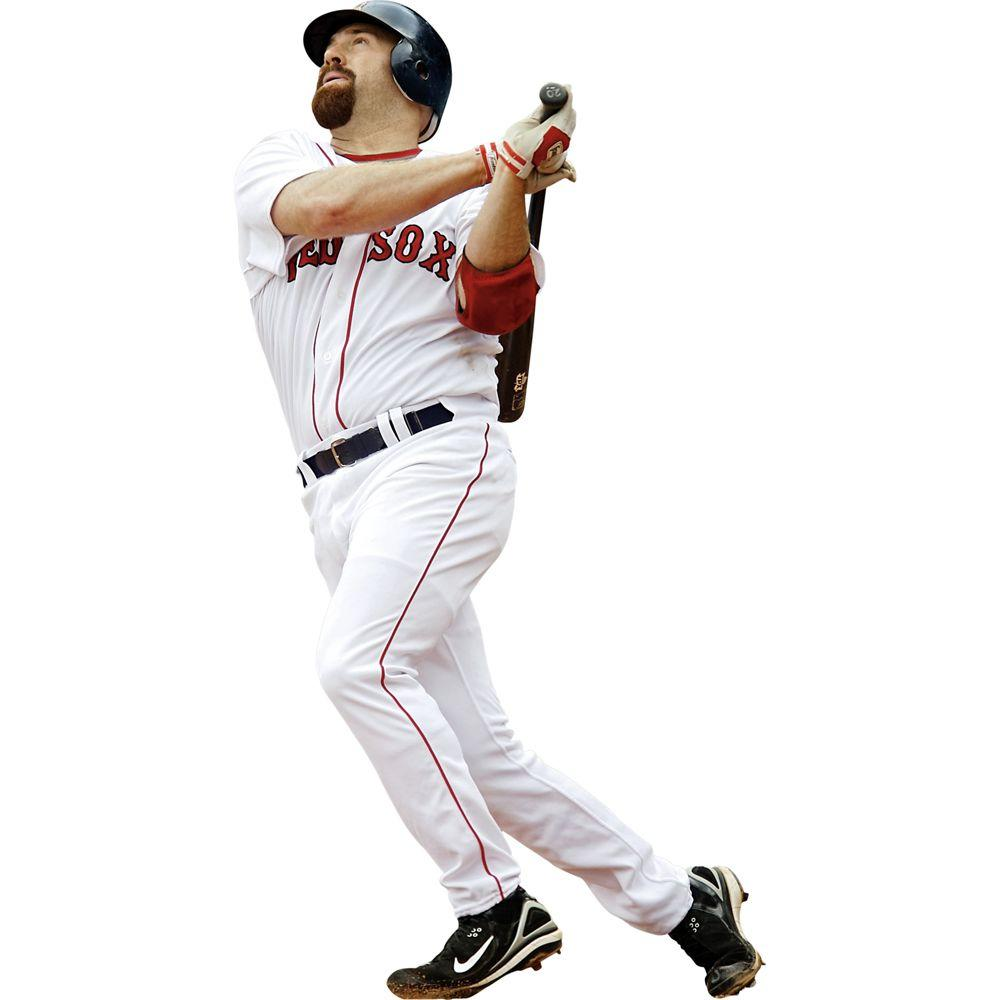 Fathead 41 in. x 77 in. Kevin Youkilis Boston Red Sox Wall Decal