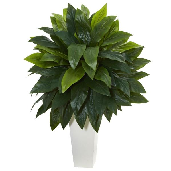 Nearly Natural Cordyline Artificial Plant in White Tower Planter 6386