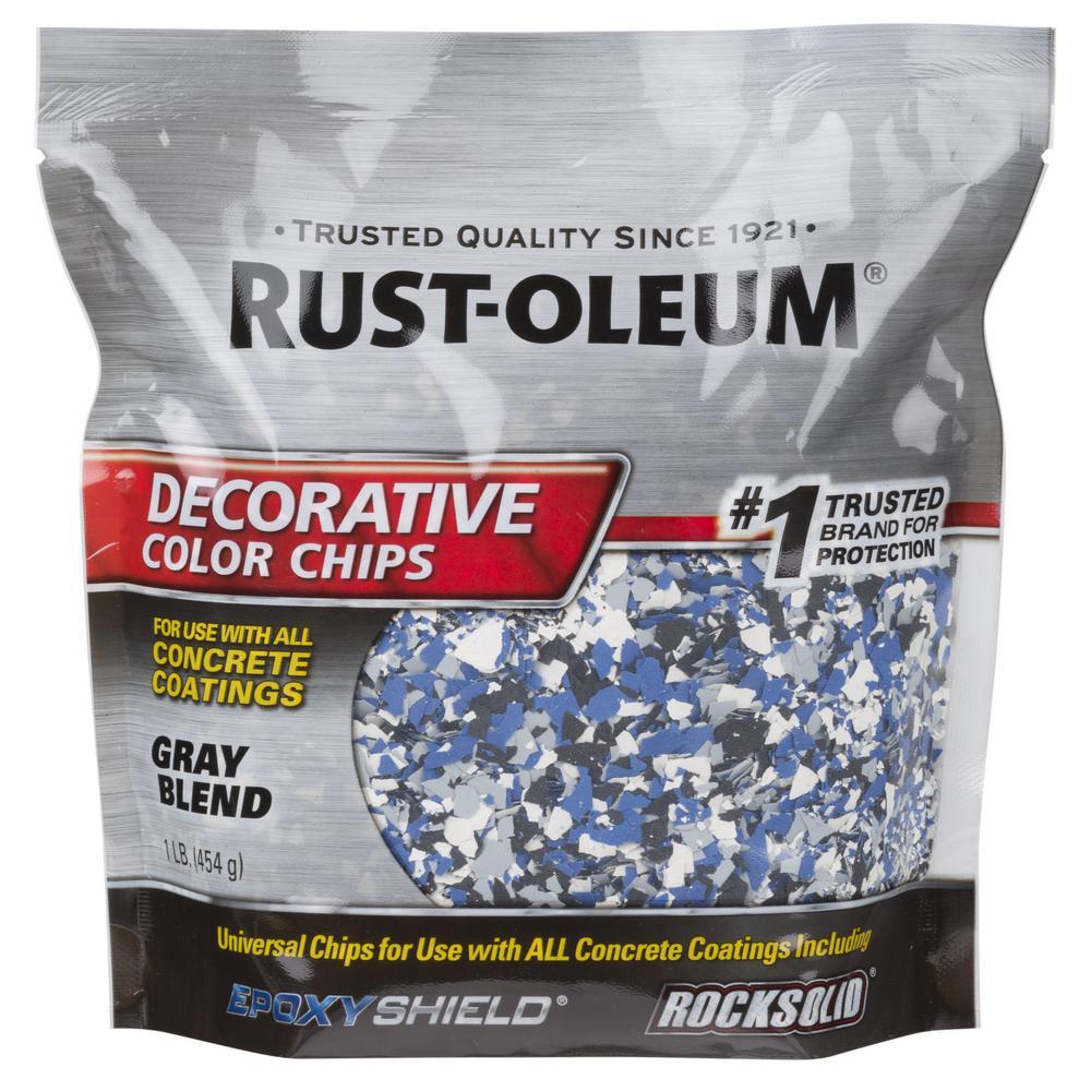 Rust-Oleum 1 lb. Gray Decorative Color Chips
