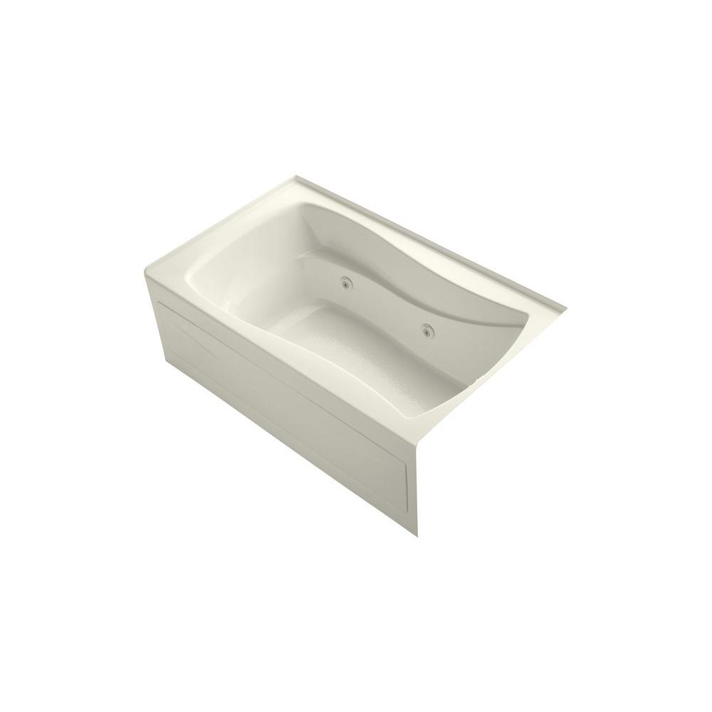 KOHLER Mariposa 5 ft. Whirlpool Tub in Biscuit