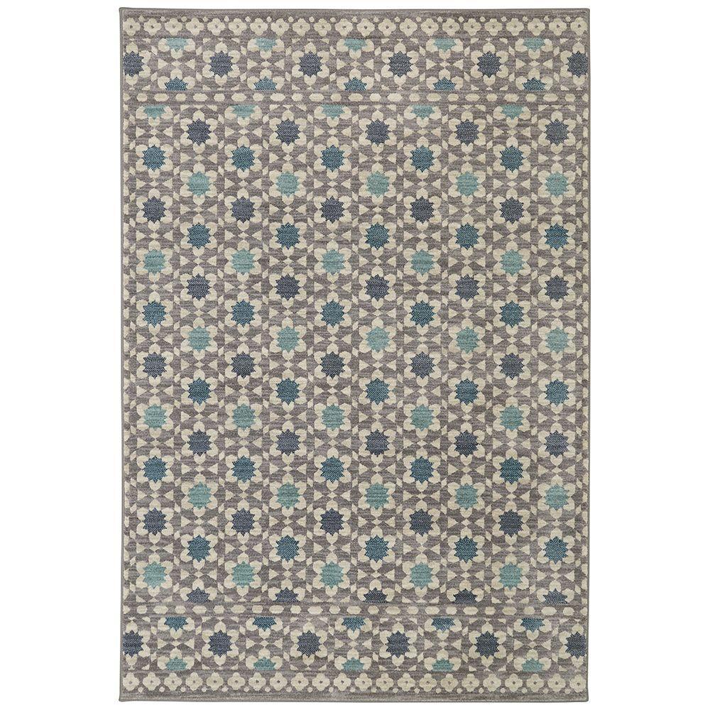 Mohawk Home Lattice Tiles Grey 8 Ft X 10 Area Rug