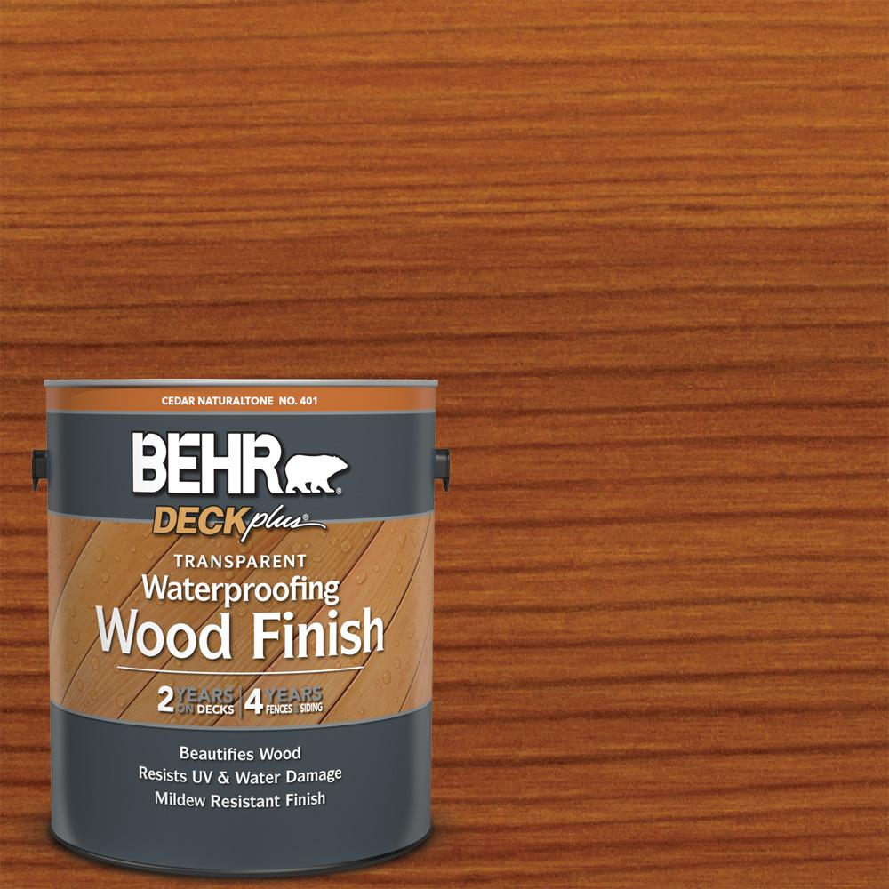 BEHR DECKplus 1 gal. Cedar Naturaltone Transparent Waterproofing Exterior Wood Finish