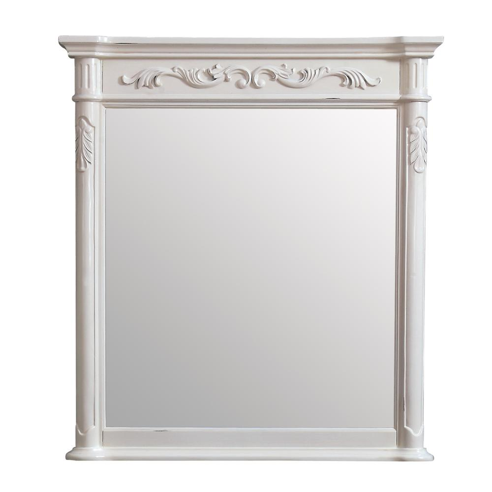 36 x 40 mirror lighted mirror avanity provence 36 in 40 framed wall mirror in antique white