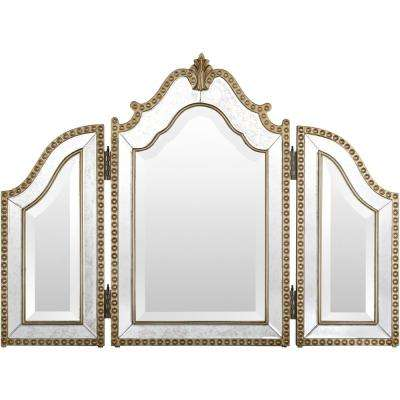 Lydia 26 in. x 35 in. Glam Framed Mirror