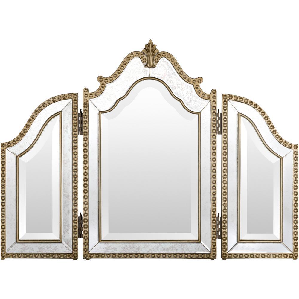 Lydia 26 in. x 35 in. Glam Framed Mirror
