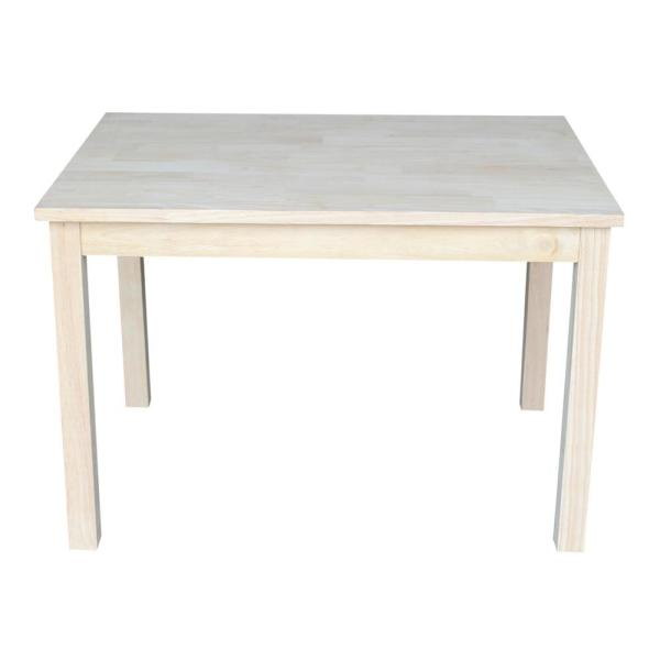 International Concepts Unfinished Solid Wood Kid's Table