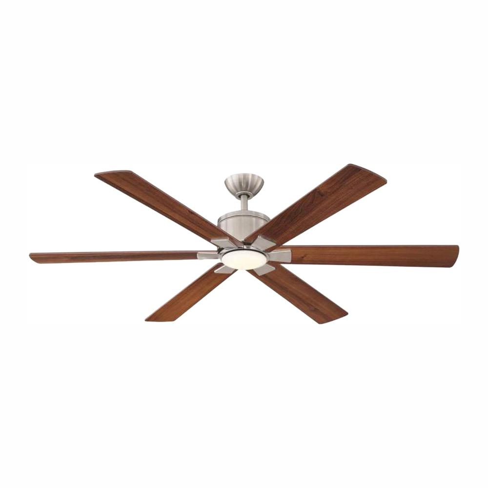 Home Decorators Collection Renwick 60 in. Integrated LED Indoor Brushed Nickel Ceiling Fan with Light Kit and Remote Control