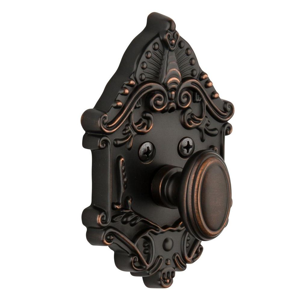 Nostalgic Warehouse Grande Victorian Timeless Bronze Single Cylinder Deadbolt - Keyed Differently