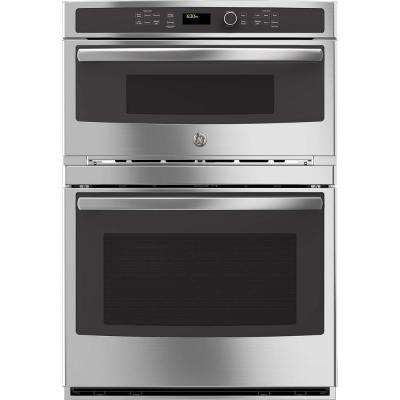 30 in. Double Electric Wall Oven with Built-In Microwave in Stainless Steel