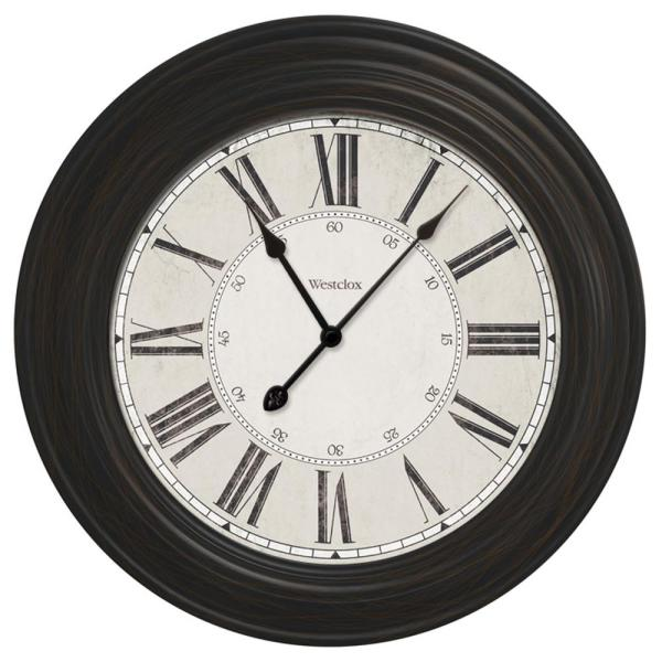 Westclox 24 In Classic Black Oversized Wall Clock 32213vbk The Home Depot