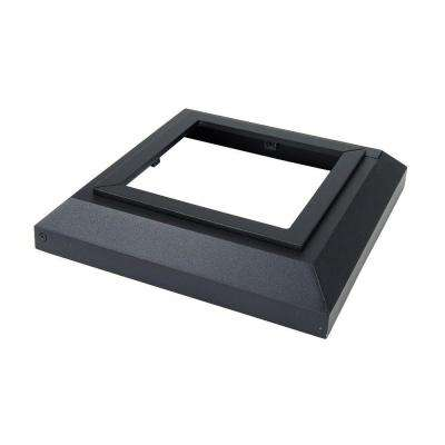 5 in. x 5 in. Black Sand Aluminum Deck Post Base Cover