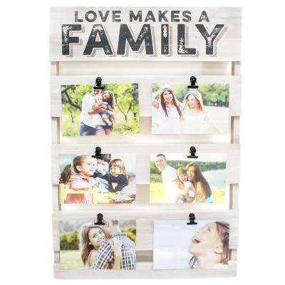 Divan Family 4 in. x 6 in. White Collage Picture Frame
