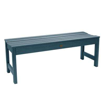 Lehigh 48 in. 2-Person Nantucket Blue Recycled Plastic Outdoor Picnic Bench