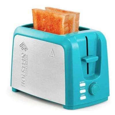 Holstein Housewares Everyday 750w 2 Slice Teal Wide Slot Toaster Hh 09101025e The Home Depot