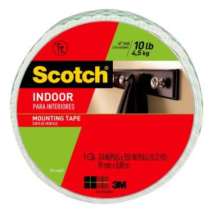 3M Scotch 0.75 inch x 9.72 yds. Permanent Double Sided Indoor Mounting Tape... from Mounting Tape
