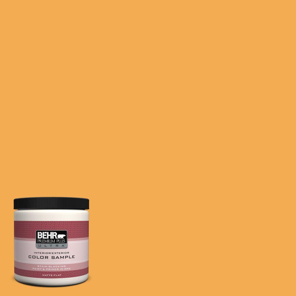 BEHR Premium Plus Ultra 8 oz. #290B-6 Squash Interior/Exterior Paint Sample