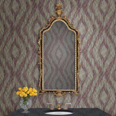 8 in. x 10 in. Ethereal Purple Ogee Wallpaper Sample