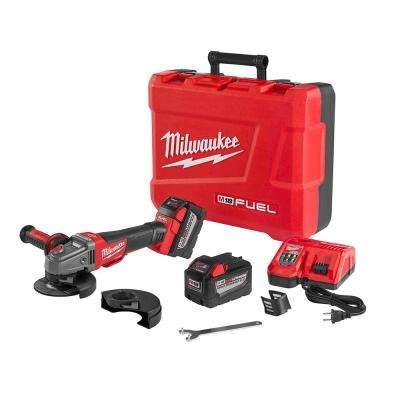 M18 FUEL 18-Volt Lithium-Ion Brushless 4-1/2 in./5 in. Cordless Braking Grinder High Demand 9.0Ah Kit