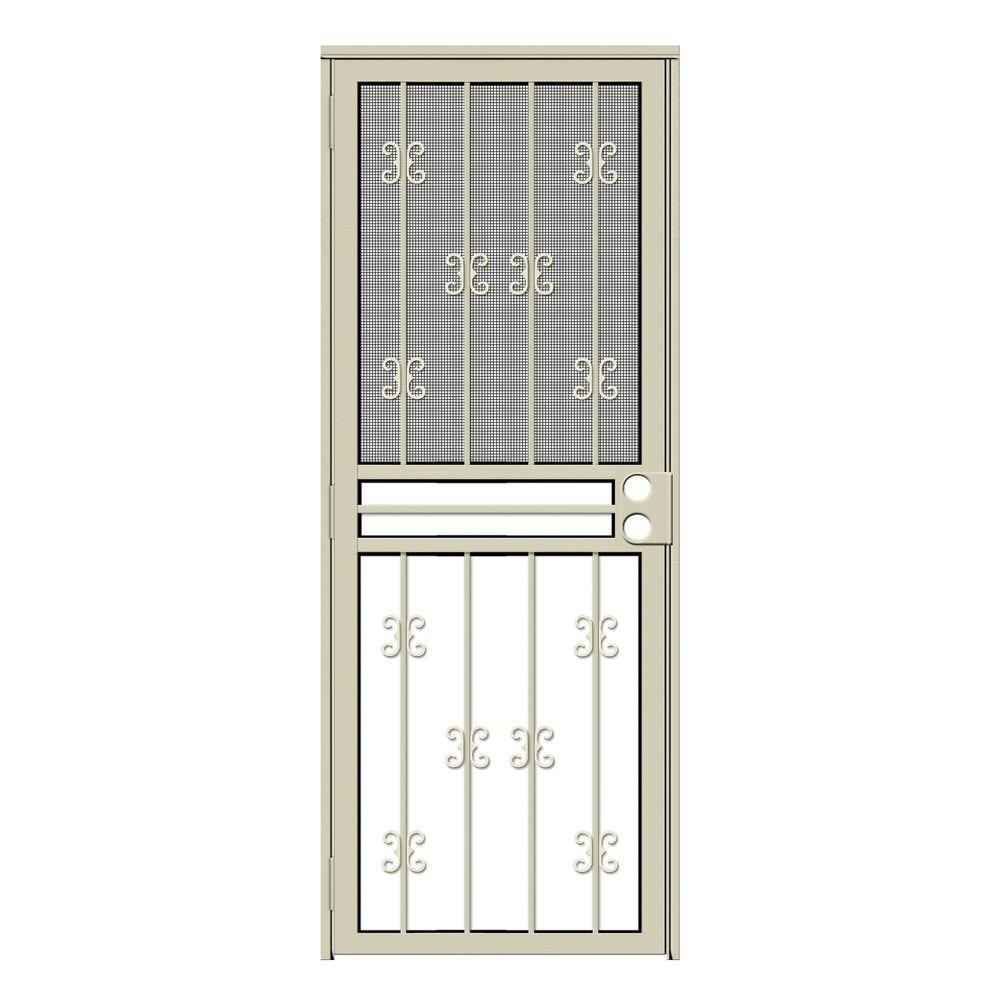 Unique Home Designs Single Door Almond Security Doors