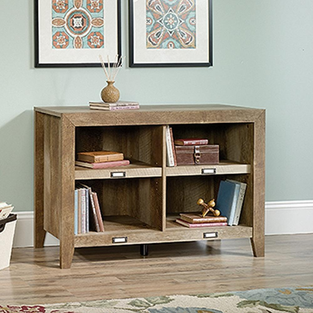 Sauder dakota pass craftsman oak storage console table 418540 sauder dakota pass craftsman oak storage console table geotapseo Image collections