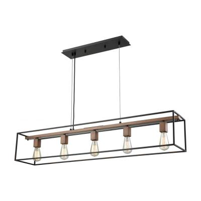 Rigby 5-Light Oil Rubbed Bronze and Tarnished Brass Chandelier