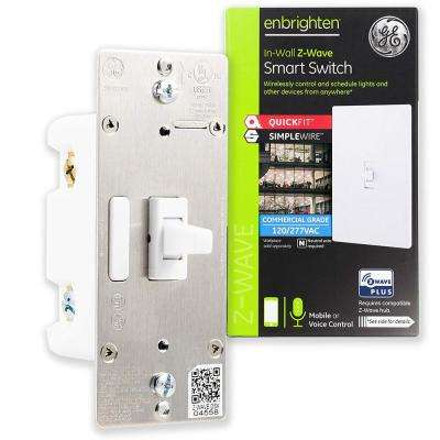 Z-Wave Plus Smart Toggle Light Switch, White