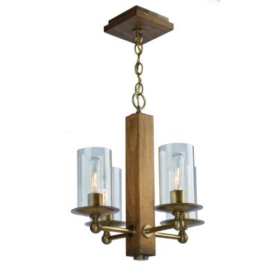 4-Light Burnished Brass Chandelier