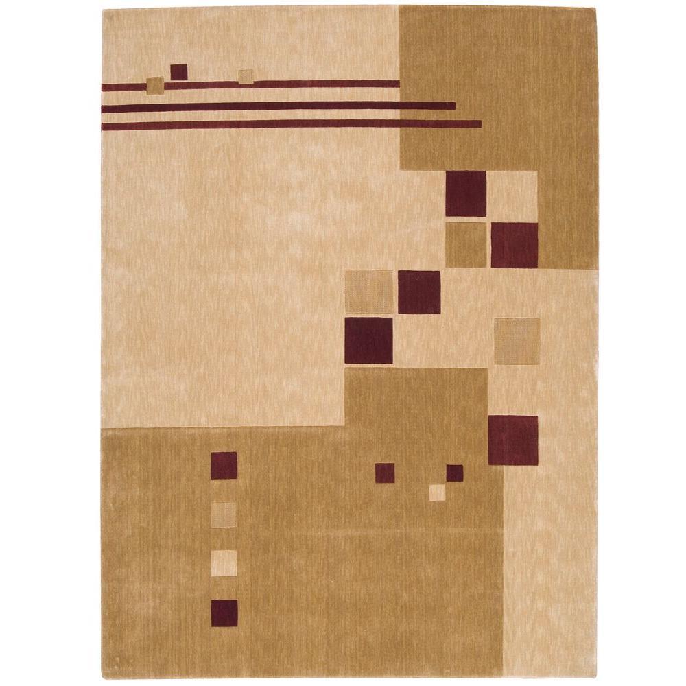Nourison Overstock Parallels Beige 2 ft. 3 in. x 3 ft. 9 in. Area Rug