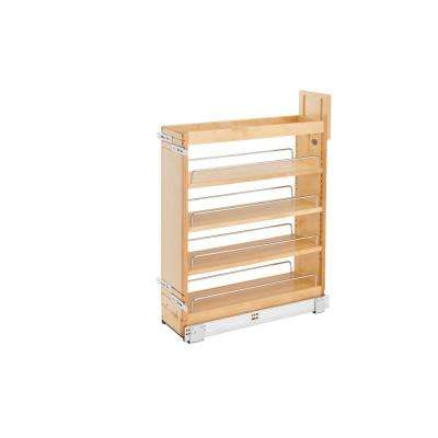 25.5 in. H x 6.5 in. W x 21.62 in. D Pull-Out Wood Base Cabinet Organizer with Soft-Close Slides