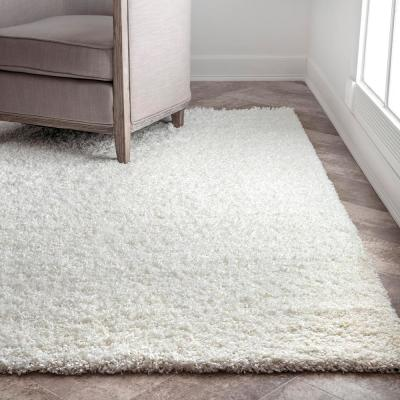 Marleen Plush Shag White 8 ft. x 10 ft. Area Rug