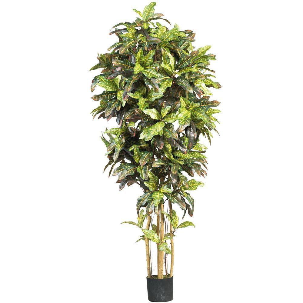 Nearly Natural 6 ft. Croton Silk Tree