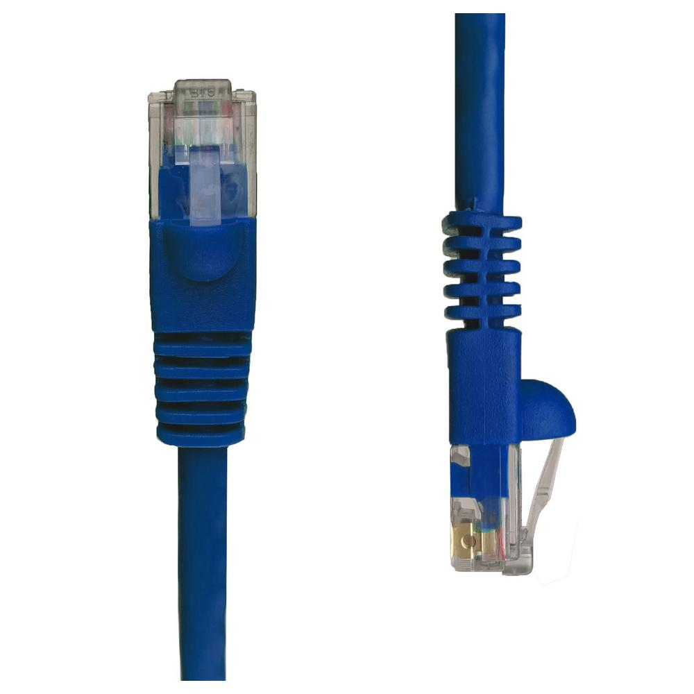 Commercial Electric 7 Ft Cat5e Utp Ethernet Cable Blue 575674 Cat 5 Wall Plate Wiring Snagless Unshielded Network Patch