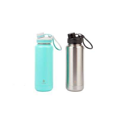 Ranger Pro 40 oz. Teal Stainless and Mint Stainless Steel Vacuum Bottle (2-Pack)