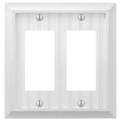 Cottage 2-Gang Decora Wall Plate - White
