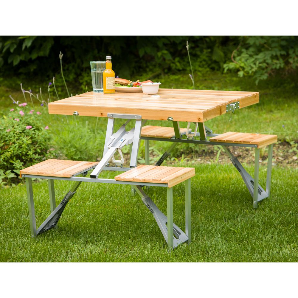 - Leisure Season Portable Patio Folding Picnic Table PFT12 - The