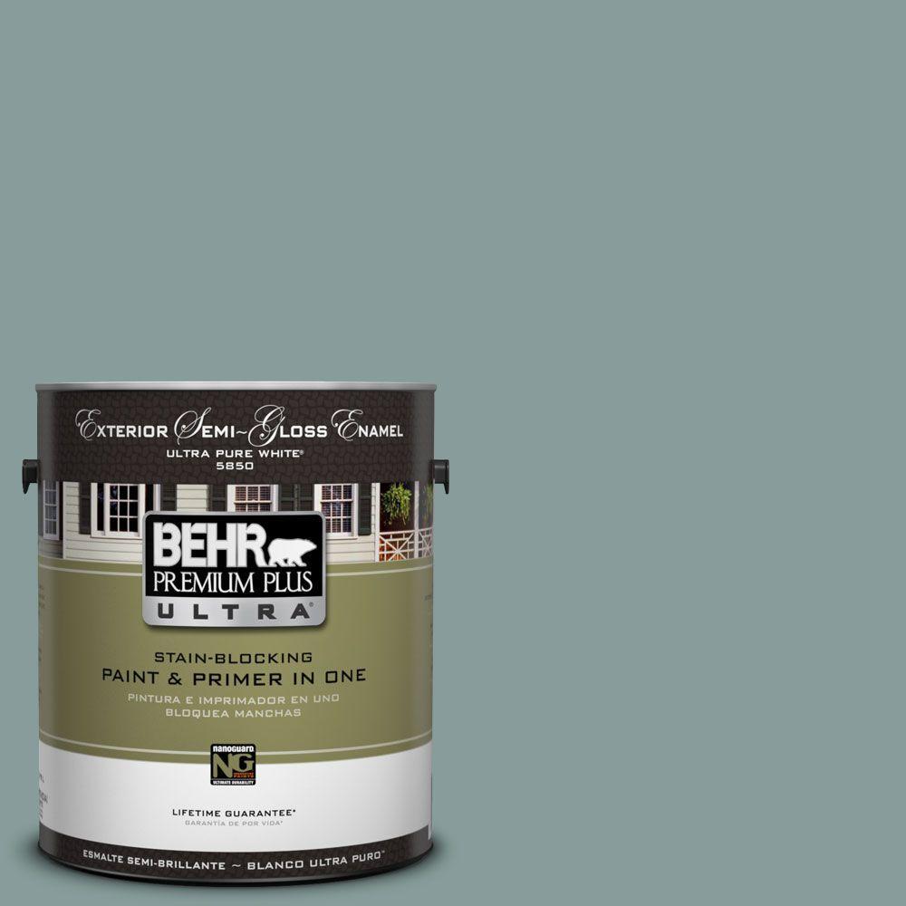 BEHR Premium Plus Ultra 1-Gal. #UL220-18 Agave Semi-Gloss Enamel Exterior Paint